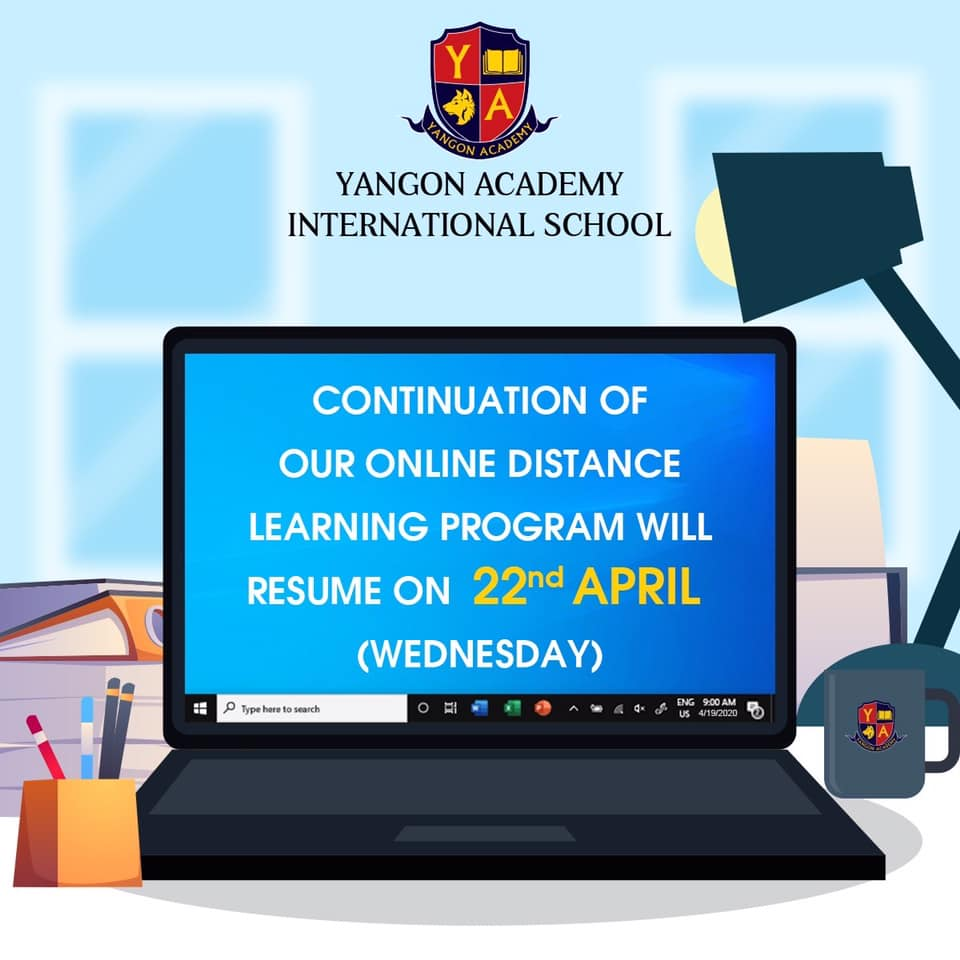 re-start our online schooling this Wednesday, April 22